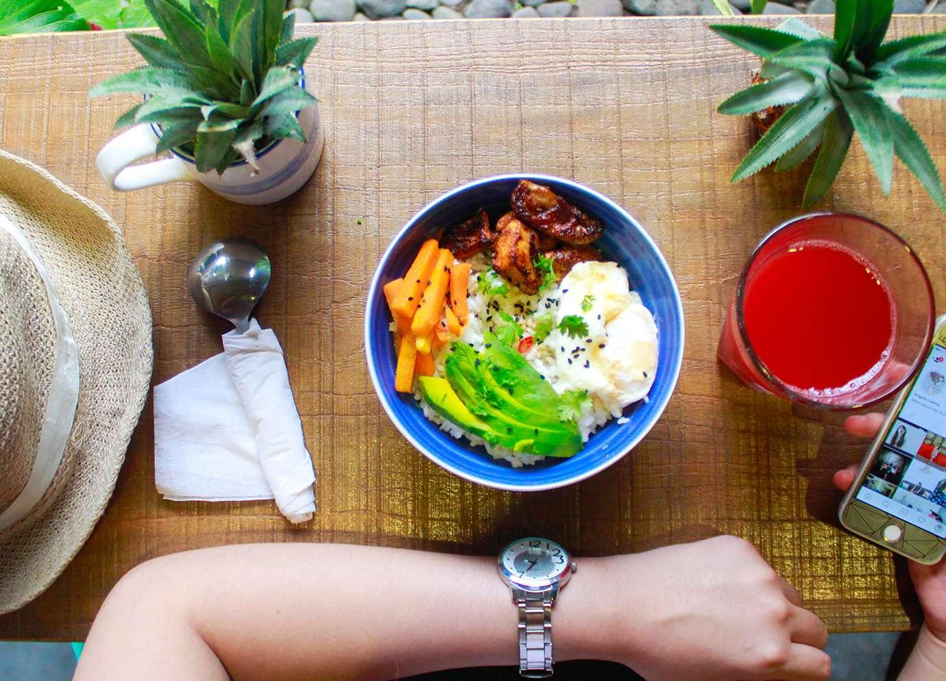 Repas nutritif et coloré